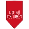 Mirage Pet Products Like my costume? Screen Print Bandana Red Small
