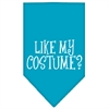 Mirage Pet Products Like my costume? Screen Print Bandana Turquoise Large