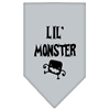 Mirage Pet Products Lil Monster  Screen Print Bandana Grey Small