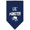 Mirage Pet Products Lil Monster  Screen Print Bandana Navy Blue Small