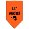 Mirage Pet Products Lil Monster  Screen Print Bandana Orange Large