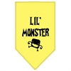 Mirage Pet Products Lil Monster  Screen Print Bandana Yellow Small