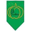 Mirage Pet Products Lil Punkin Screen Print Bandana Emerald Green Small