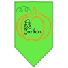 Mirage Pet Products Lil Punkin Screen Print Bandana Lime Green Large