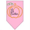 Mirage Pet Products Lil Punkin Screen Print Bandana Light Pink Large