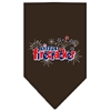 Mirage Pet Products Little Firecracker Screen Print Bandana Cocoa Large