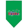 Mirage Pet Products Little Firecracker Screen Print Bandana Emerald Green Large