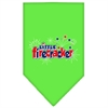 Mirage Pet Products Little Firecracker Screen Print Bandana Lime Green Large