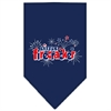 Mirage Pet Products Little Firecracker Screen Print Bandana Navy Blue Small