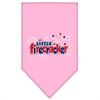 Mirage Pet Products Little Firecracker Screen Print Bandana Light Pink Large