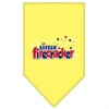 Mirage Pet Products Little Firecracker Screen Print Bandana Yellow Large