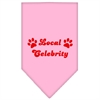 Mirage Pet Products Local Celebrity Screen Print Bandana Light Pink Large