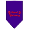 Mirage Pet Products Local Celebrity Screen Print Bandana Purple Large