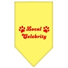 Mirage Pet Products Local Celebrity Screen Print Bandana Yellow Small