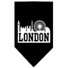 Mirage Pet Products London Skyline Screen Print Bandana Black Large