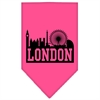Mirage Pet Products London Skyline Screen Print Bandana Bright Pink Small