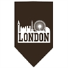 Mirage Pet Products London Skyline Screen Print Bandana Cocoa Small