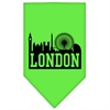 Mirage Pet Products London Skyline Screen Print Bandana Lime Green Large
