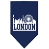 Mirage Pet Products London Skyline Screen Print Bandana Navy Blue Small