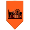 Mirage Pet Products London Skyline Screen Print Bandana Orange Small