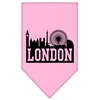 Mirage Pet Products London Skyline Screen Print Bandana Light Pink Large