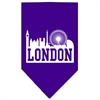 Mirage Pet Products London Skyline Screen Print Bandana Purple Large