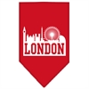 Mirage Pet Products London Skyline Screen Print Bandana Red Large