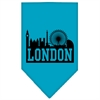 Mirage Pet Products London Skyline Screen Print Bandana Turquoise Large