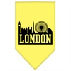 Mirage Pet Products London Skyline Screen Print Bandana Yellow Large