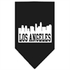 Mirage Pet Products Los Angeles Skyline Screen Print Bandana Black Large
