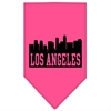 Mirage Pet Products Los Angeles Skyline Screen Print Bandana Bright Pink Large