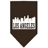 Mirage Pet Products Los Angeles Skyline Screen Print Bandana Cocoa Small