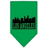 Mirage Pet Products Los Angeles Skyline Screen Print Bandana Emerald Green Small