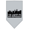 Mirage Pet Products Los Angeles Skyline Screen Print Bandana Grey Large