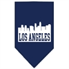 Mirage Pet Products Los Angeles Skyline Screen Print Bandana Navy Blue large
