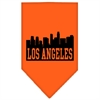Mirage Pet Products Los Angeles Skyline Screen Print Bandana Orange Small