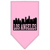 Mirage Pet Products Los Angeles Skyline Screen Print Bandana Light Pink Large