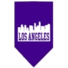 Mirage Pet Products Los Angeles Skyline Screen Print Bandana Purple Large