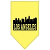 Mirage Pet Products Los Angeles Skyline Screen Print Bandana Yellow Large