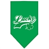 Mirage Pet Products Lucky Swoosh Screen Print Bandana Emerald Green Large