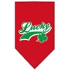 Mirage Pet Products Lucky Swoosh Screen Print Bandana Red Small