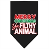 Mirage Pet Products Ya Filthy Animal Screen Print Pet Bandana Black Size Large