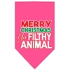 Mirage Pet Products Ya Filthy Animal Screen Print Pet Bandana Bright Pink Size Large