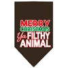 Mirage Pet Products Ya Filthy Animal Screen Print Pet Bandana Cocoa Size Large