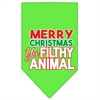 Mirage Pet Products Ya Filthy Animal Screen Print Pet Bandana Lime Green Size Large