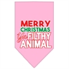 Mirage Pet Products Ya Filthy Animal Screen Print Pet Bandana Light Pink Size Large