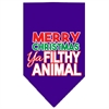 Mirage Pet Products Ya Filthy Animal Screen Print Pet Bandana Purple Size Large
