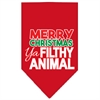 Mirage Pet Products Ya Filthy Animal Screen Print Pet Bandana Red Size Large