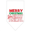 Mirage Pet Products Ya Filthy Animal Screen Print Pet Bandana White Size Large