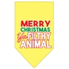 Mirage Pet Products Ya Filthy Animal Screen Print Pet Bandana Yellow Size Large